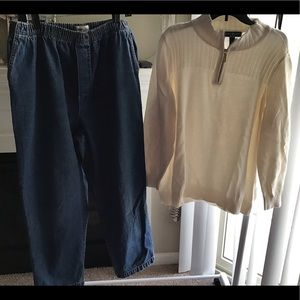 Pull on jeans free karen scott sweater